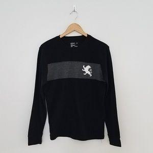 Express black waffle long sleeved shirt medium